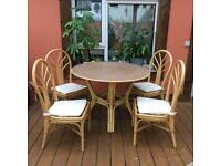 Bamboo table with chairs
