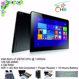 "ThinkPad Tablet 10 - x7-Z8700 - 128GB - 4GB - 10.1"" IPS -WiFi + 4G Unlocked NEW - Clearance"