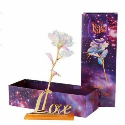 Galaxy Rose With Love Base Everlasting Crystal Mother's day Gift The Best
