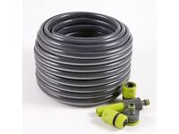 Garden Hose and fittings 20m - used.