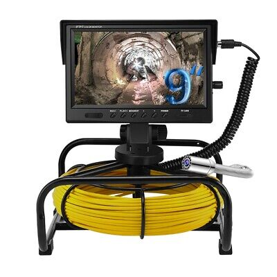 13mp 164ft 9 Inch Waterproof Pipe Inspection Sewer Camera Video Plumbing System