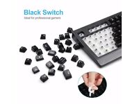 Mechanical Keyboard with Gaming Mouse, 104 keys, Water-Resistant, UK Layout