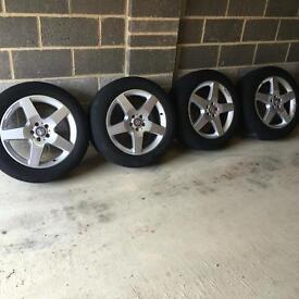 "19""Wheels Alloys with Brand New Tyres Mercedes Ml Gl Viano Vito VW Passat Golf Audi A6"