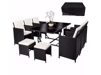 **FREE UK DELIVERY** **FREE COVER** German Luxury Rattan Garden Conservatory Furniture Set