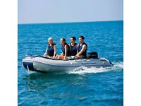 Hydro Force Sunsaille 3.8m RIB Rigid Inflatable 6 Person Tender Boat Oars Pump