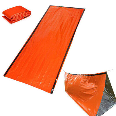 2 Pack Emergency Sleeping Bag Survival Rescue Blanket Hiking Insulated Bivvy
