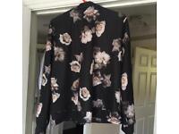Flowered jacket.