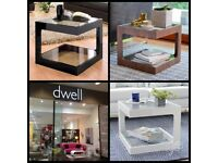 New Dwell Side Coffee Tables - Walnut or Black Gloss - Contemporary Modern