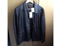 Brown luxury leather jacket, ladies
