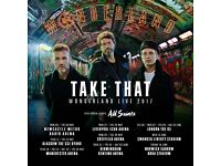 Take That Tickets - Manchester Arena - 27 May 2017 - East Standing - Tickets in Hand