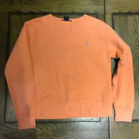 Women's Ralph Lauren logo crewneck jumper / sweater size medium