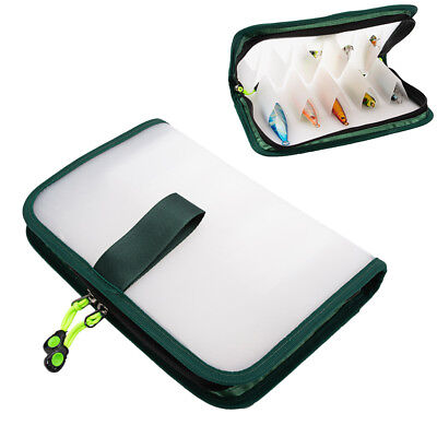 Fishing Fishing Tackle Boxes Magideal Squid Jig Bag Pouch Both Side Storage Lure Case Holder Wallet Clear Waterproof Bag With Zipper 12 Compartments