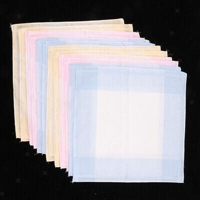 12 Stück Stofftaschentücher Taschentücher Hankerchief aus 100% Bio-Baumwolle