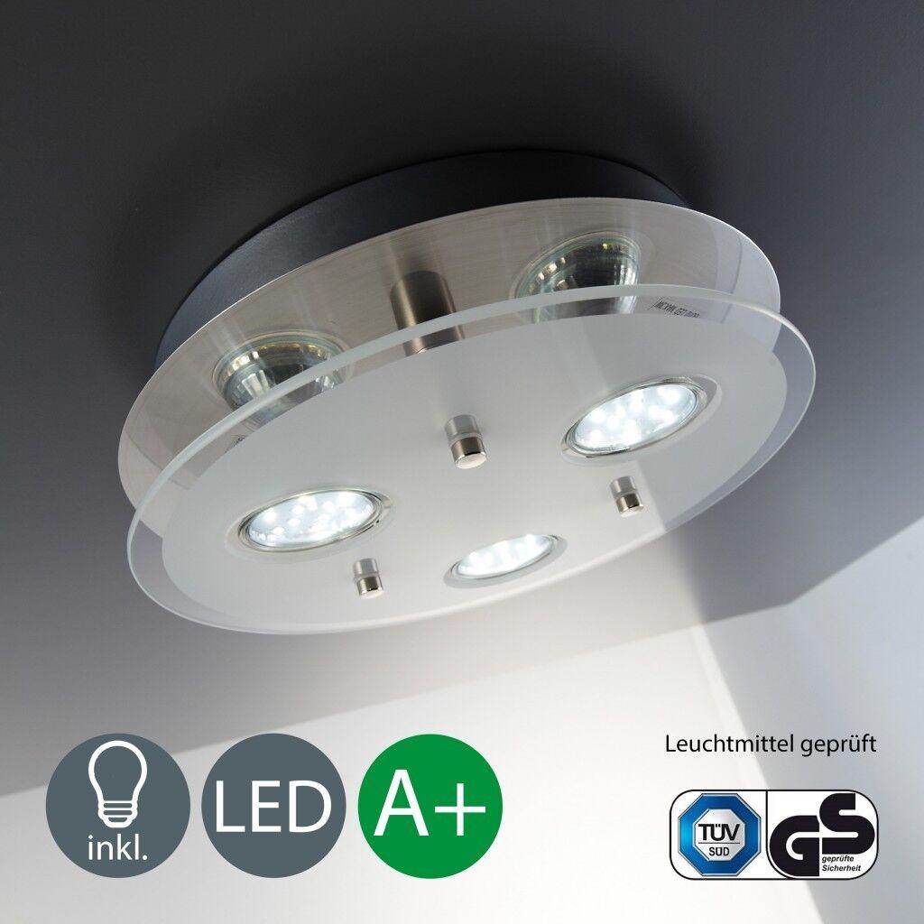 LED Decken-Leuchte Schlafzimmer Decken-Lampe Spots rund Wohnzimmer Strahler GU10