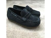 M&S boys moccasins size 4 infant