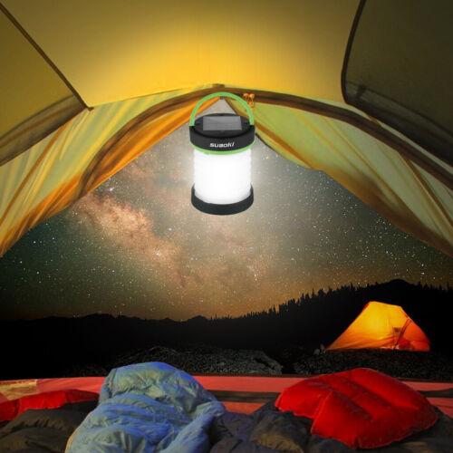 Suaoki Collapsible Lamp Solar Panel LED Camping Lantern USB