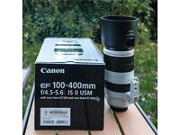 Canon Zoom Lens EF 100-400 mm f4.5-5.6 L IS Mk II USM - VG Condition