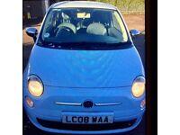 **BARGAIN** 08 Fiat 500 Sport 1.2cc*Baby Blue*Great Spec* BARGAIN £2750!!£2750!!