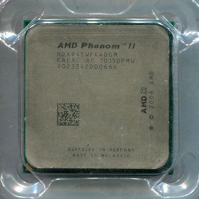 AMD Phenom II X4 945 HDX945WFK4DGM 3.0 GHz quad core socket AM3 CPU Deneb