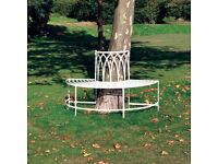 Steel Circular Garden Tree Seat - Half Circular