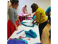 Sewing, dressmaking and textile craft class for all ages, levels of experience and abilities