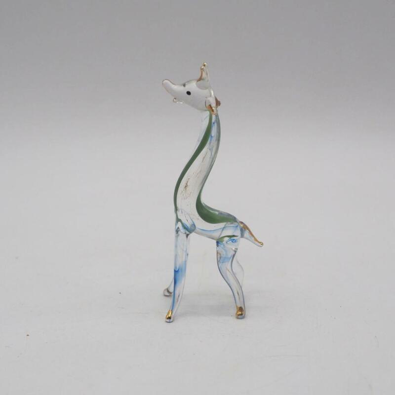 Vintage Giraffe Hand Blown Glass Figurine