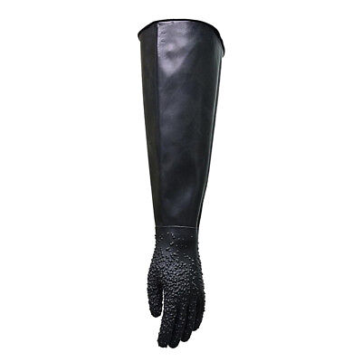 68cm27 Left Abrasive Gauntlet Gloves For Sandblasting Sand Blasting Tools
