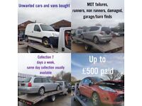 Bought-end of life/unwanted vehicles