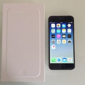 iPhone 6 Space Grey, 16GB, Vodafone - Boxed with Accessories, Protector and Clear Griffin Case