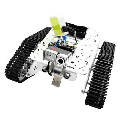 Silver Obstacle Avoidance Smart Robot Tank Kit Rc Tracked Car With Camera