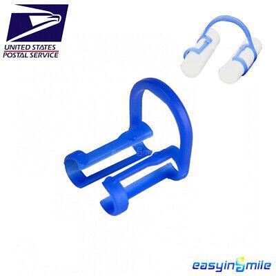 Easyinsmile 100pcs Disposable Cotton Roll Holders Dental Blue Teeth Clip Holders