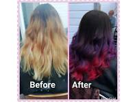 Home hairdresser and hair extensions appointments available tomorrow onwards
