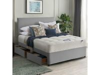Splendid Divan Base with Headboard and Mattress- Divan Bed in Single- Double- King Sizes- Order Now