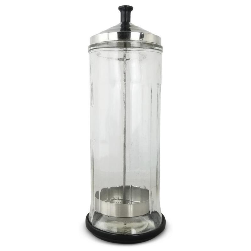 Common Wealth Glass Disinfecting Jar For Barber Salon Barbicide Sterilizing Tool