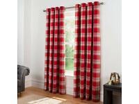 Red Tartan/Check Curtains.