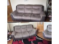 2 DFS 3seater RECLINERS 16 months old