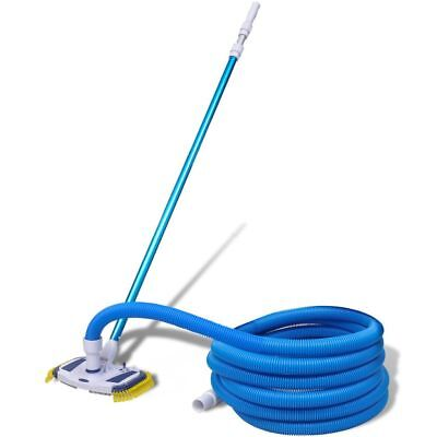Swimming Pool Spa Vacuum Cleaning Set Telescopic Pole Brush Head w/ 33 ft Hose