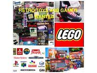 £££ 80's 90's 00's Retro Vintage Items Wanted, Toys, Games, Consoles Sega Nintendo SNES Atari N64