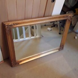 Gold Coloured Mirror