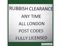 RAMBO RUBBISH CLEARANCE 24/7ANY LONDON POSTCODE FULL LICESENCED