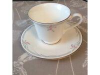 Royal doulton carnation design teacup and saucer