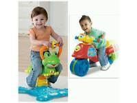 Vtech bounce and discover frog and vtech tri to bike in excellent condition