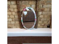 Decoupage Oval Mirror