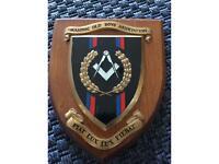 Vintage Masonic hand painted plaque