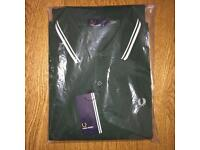 Brand new authentic men's Fred Perry long sleeve polo shirt