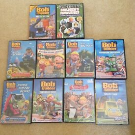 Bob the builder DVDs total 10, new & used