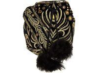 NEW Temperley embroidered black velvet bucket bag RRP £525