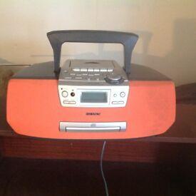 Portable CD Radio Cassette Corder