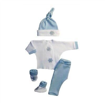 Baby Boy Blue Snowflake Christmas Winter Clothing  - 4 Preemie and Newborn Sizes