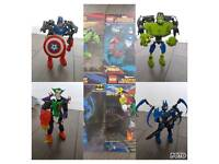 Marvel and DC Hero Factory style figures